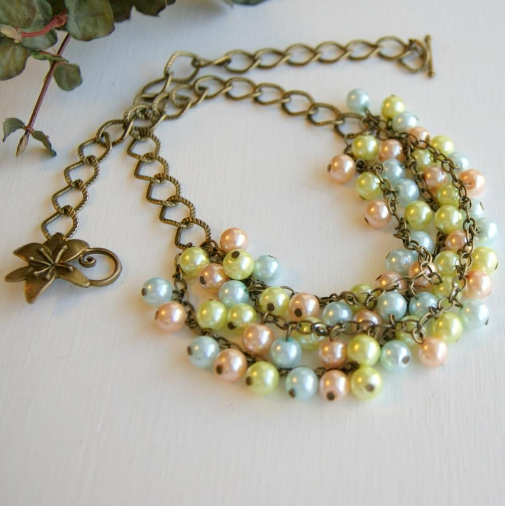 pastel knotted with pearl on il sterling choker hand findings listing pearls lnlc silver fullxfull silk large necklace