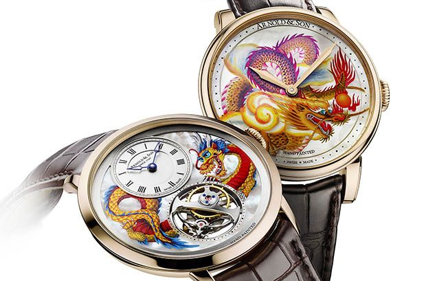 Arnold&Son presentó Métiers d'Art Dragon Unique Pieces, dos exquisitas piezas únicas.