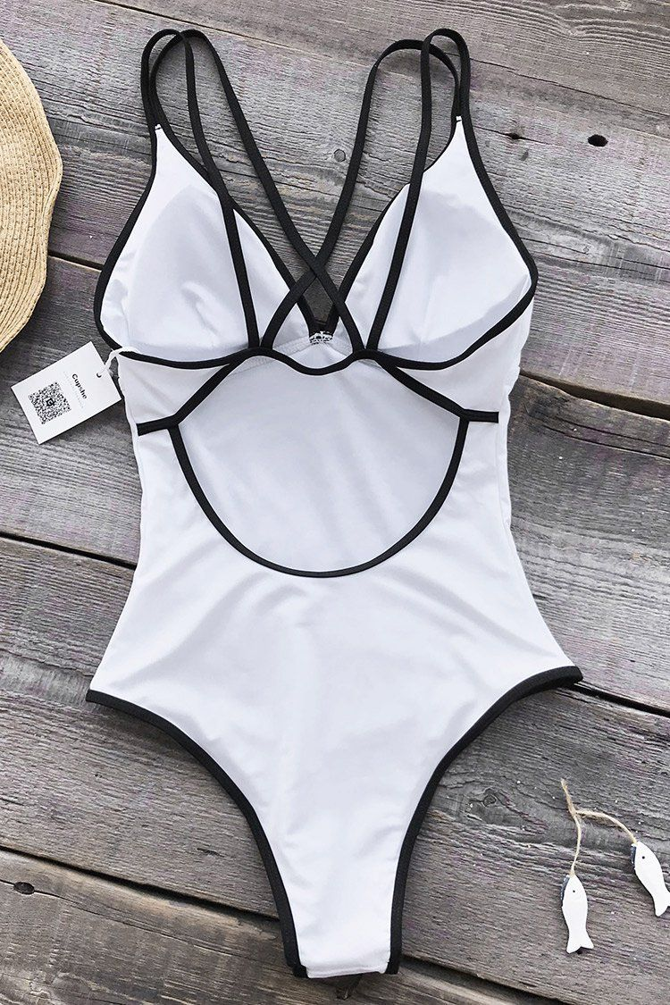 Cupshe As White As Snow One piece Swimsuit | Swimwear