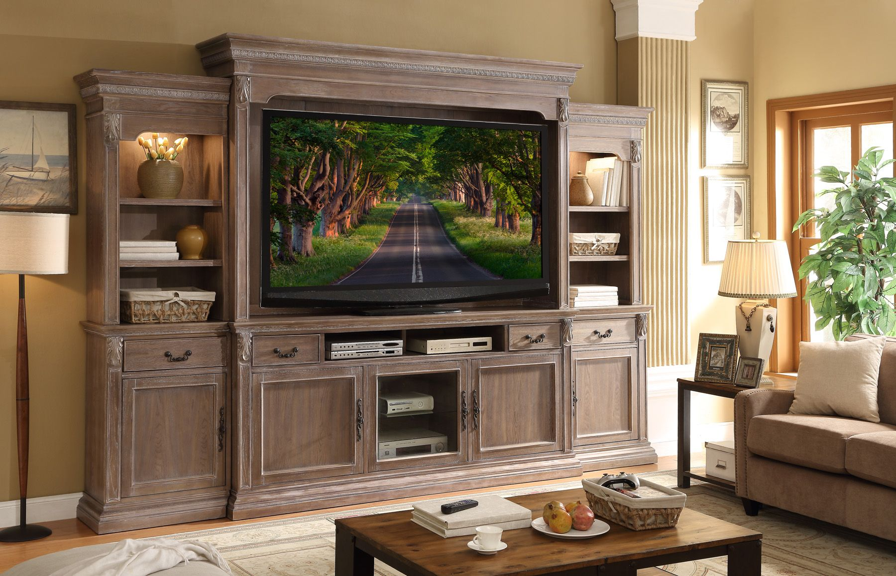 Legends furniture estancia collection ue entertainment wall for