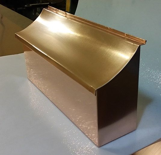 Flush Mount Copper Mailbox Copper Mailbox Copper Design Copper