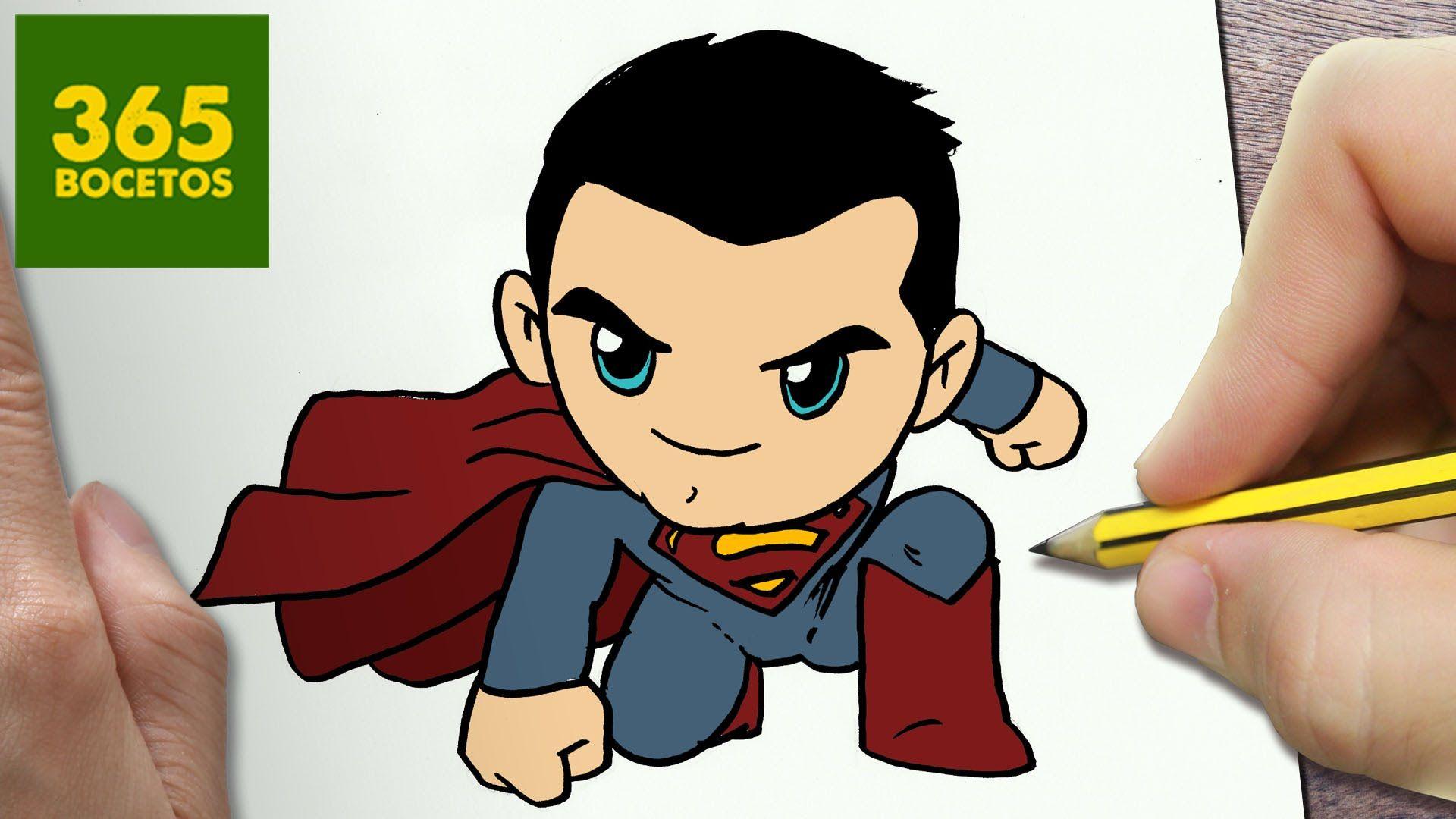 COMO DIBUJAR SUPERMAN KAWAII PASO A PASO