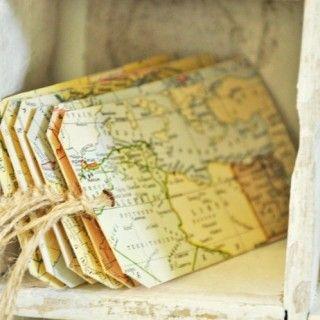 etiketten aus alten landkarten basteln landkarten pinterest alte landkarten landkarten. Black Bedroom Furniture Sets. Home Design Ideas
