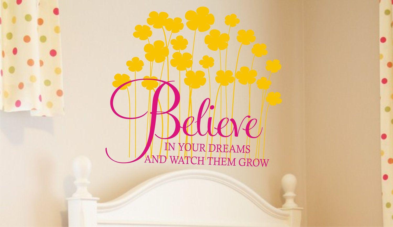 vinyl wall art believe | Believe in your Dreams Vinyl Lettering ...