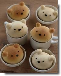 Pães criativos no Japão