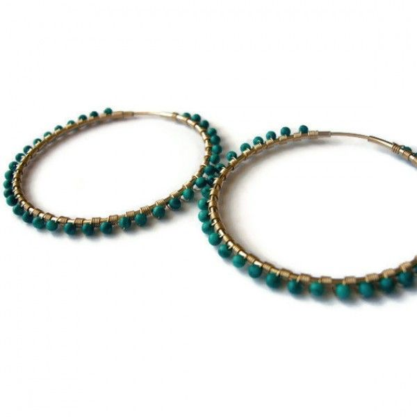 Malachite Hoop Earrings | Gypsy Glam | Pinterest