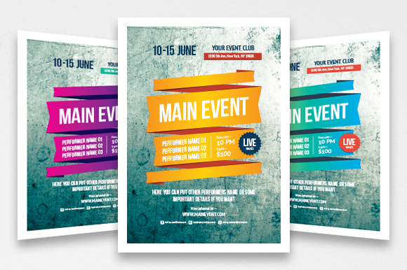 Advertising Poster Templates Custom Multipurpose Poster Template Vol 3  Pinterest  Template