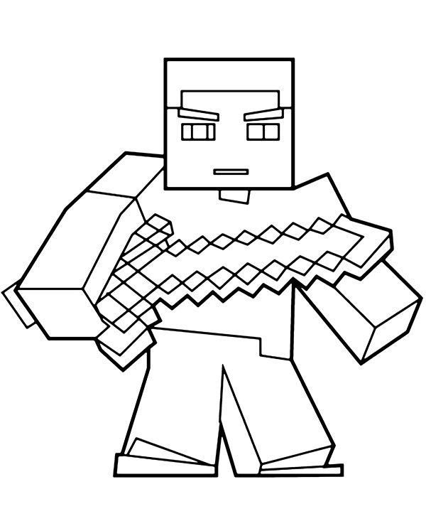 c28b5839afe693688e80eec0376b2b8f » Minecraft Zombie Pig Man Coloring Pages