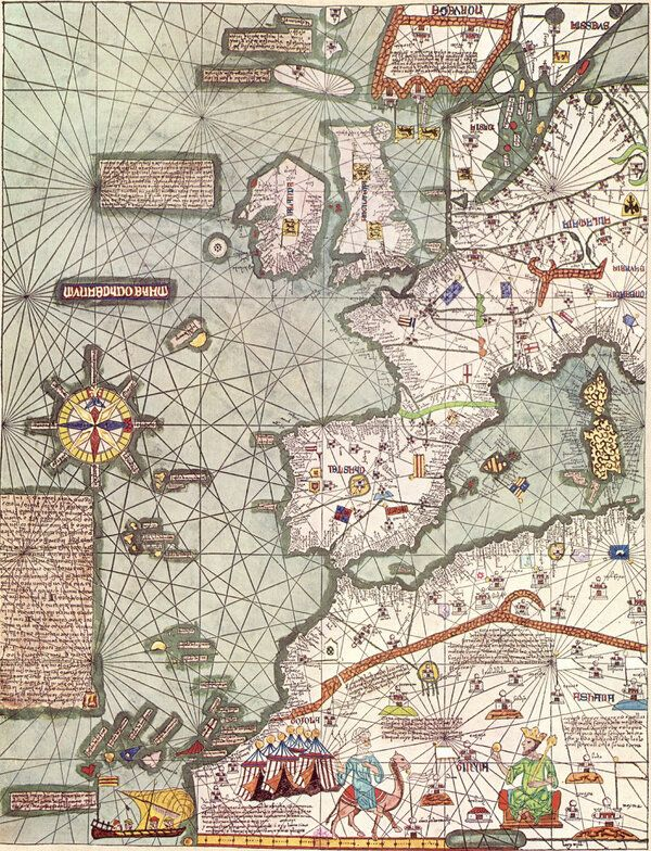 Map of North Africa and Europe | Maps in 2019 | Antique maps