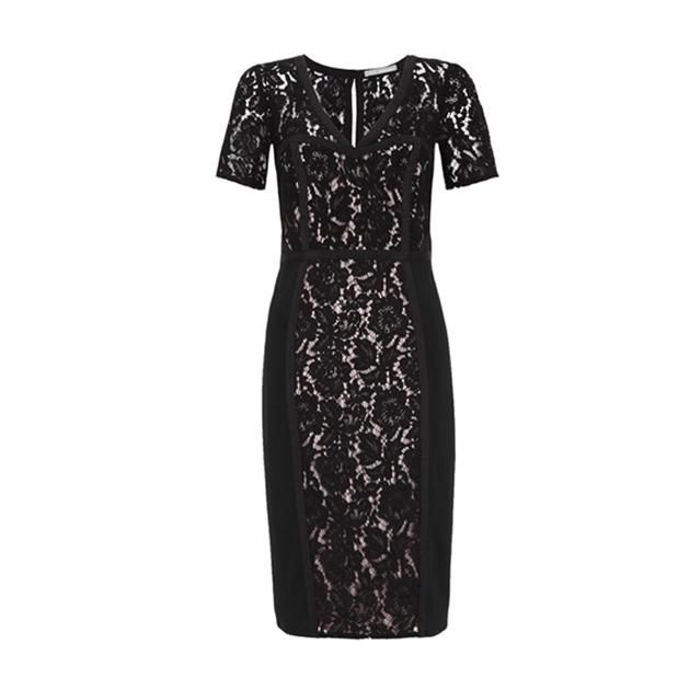 Marks and Spencer Collection Floral Lace Panelled Bodycon Dress ...