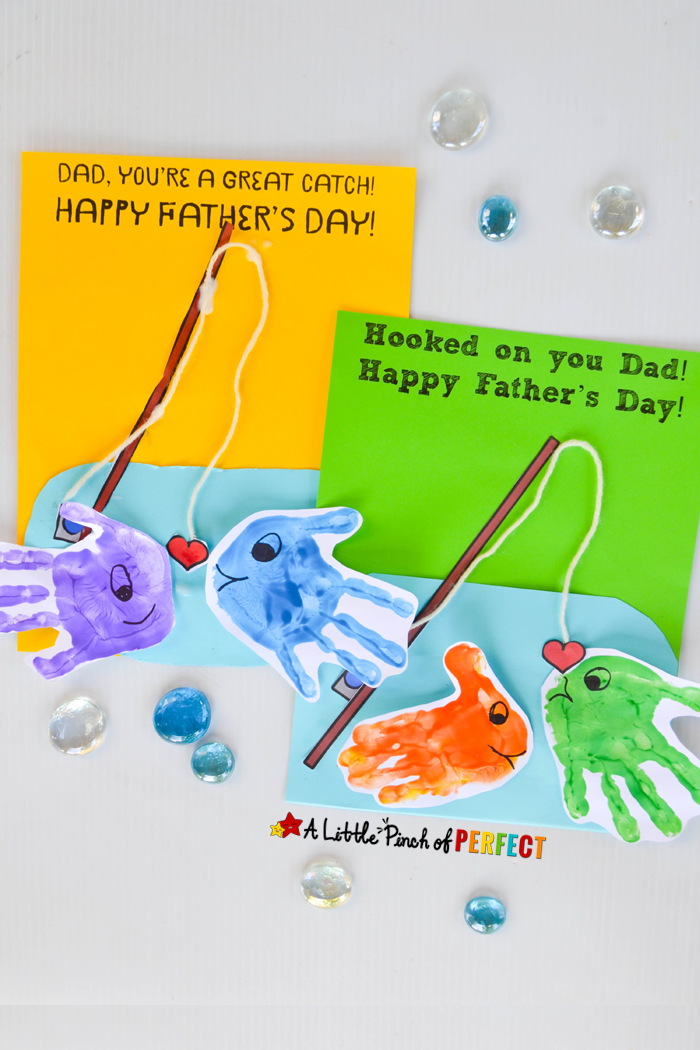 Hy Father S Day Handprint Fish Craft Kids Can Make Dad Or Grandpa An Adorable Card Using Our Free Template Will Be O Ally