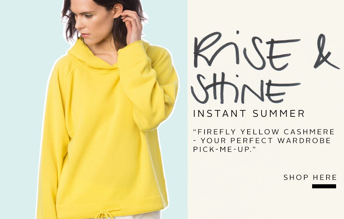 Cashmere sweater TATE in colour firefly yellow from MURIEE.com ...