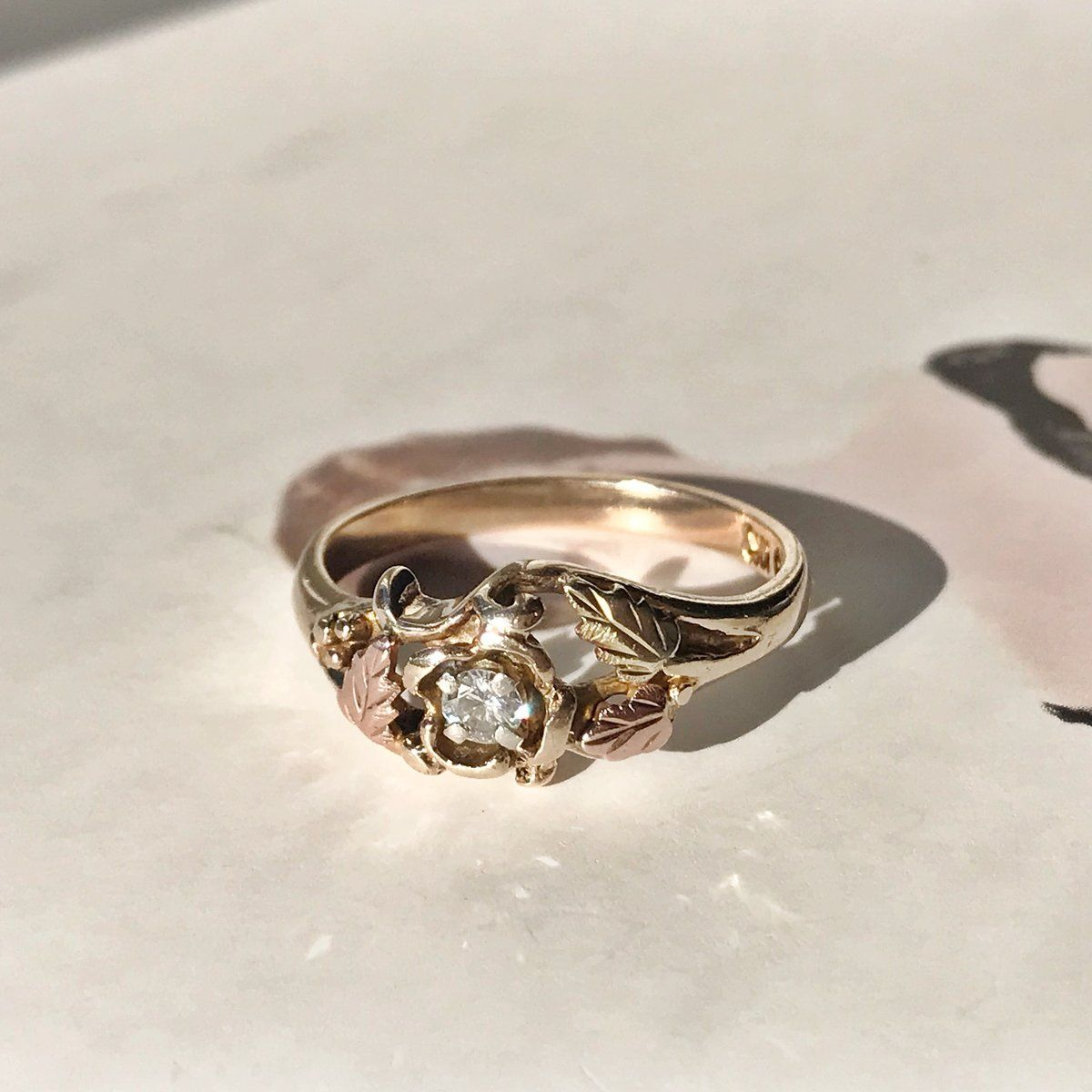 Black Hills Gold Diamond Grapevine Ring in 2020 Black