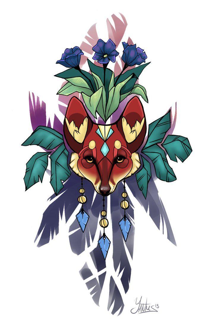 Totem fox design by Yantus on DeviantArt
