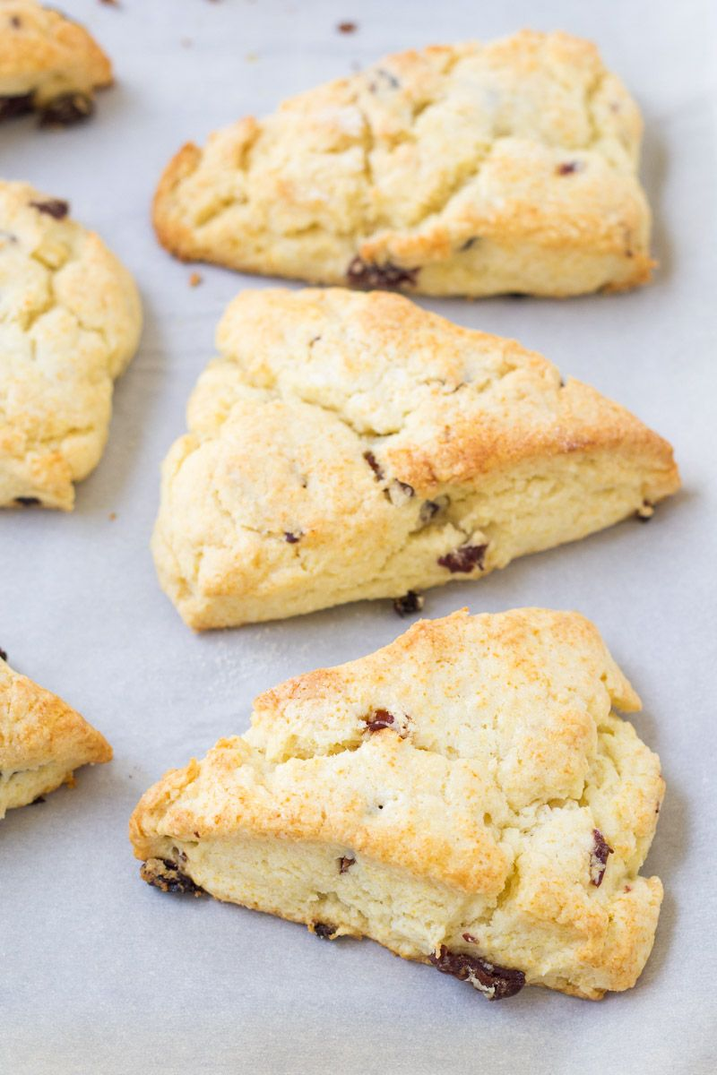 The Best Light And Flaky Cream Scones This Easy Scone Recipe Is Made With Heavy Whipping Cream And Dried Cherries In 2020 Scones Easy Scones Recipe Easy Cream Scones