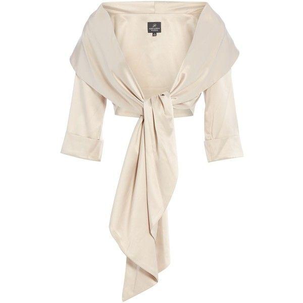 Adrianna Papell Satin Wrap Jacket (€98) liked on Polyvore ...