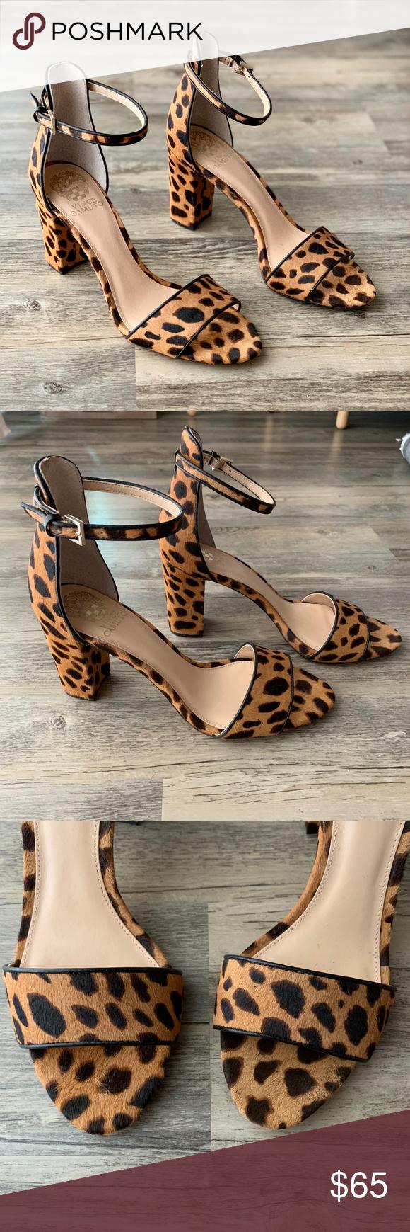 Vince Camuto Cheetah Leopard Block Heel