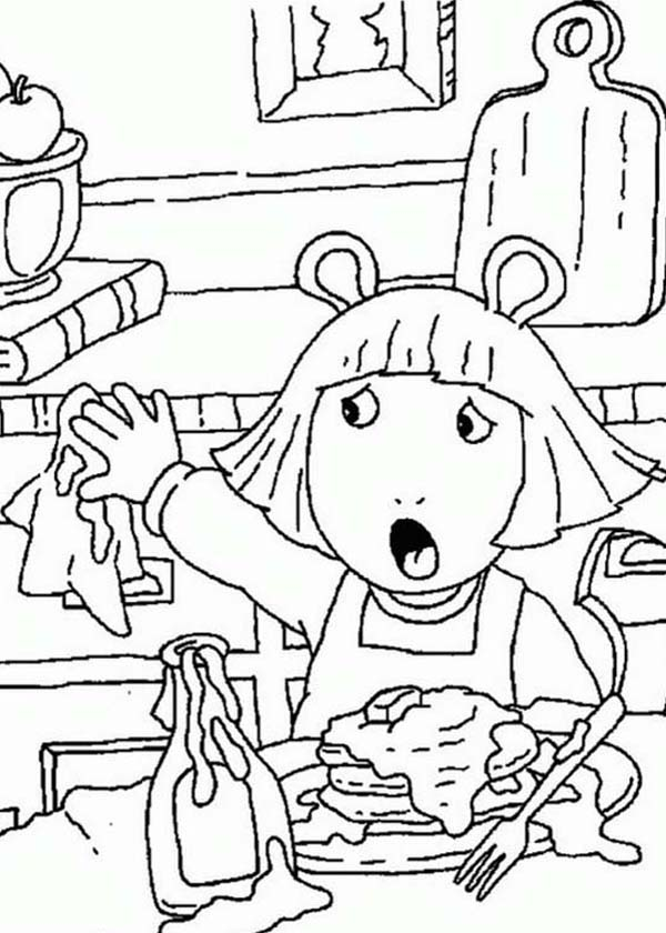 Dw Read Making A Mess In The Kitchen In Arthur Coloring Page Coloring Sun Coloring Pages Coloring Books Coloring Pages To Print