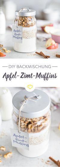DIY Backmischung im Glas: Apfel-Zimt-Muffins