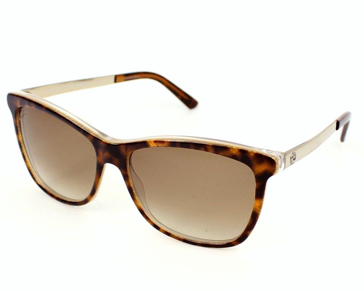 d383944b46 Reference  GG 3675 S - 4WJYY □ Model  Womens □ Frame material  Acetate □ Frame  colour  Havana - Light Gold □ Lens colour  Brown Gradient