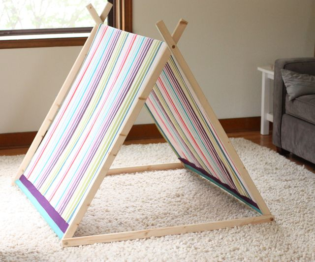 Another a-frame tent for imaginative play. I like that there is a cross & little tent | Imaginative play Tents and Plays