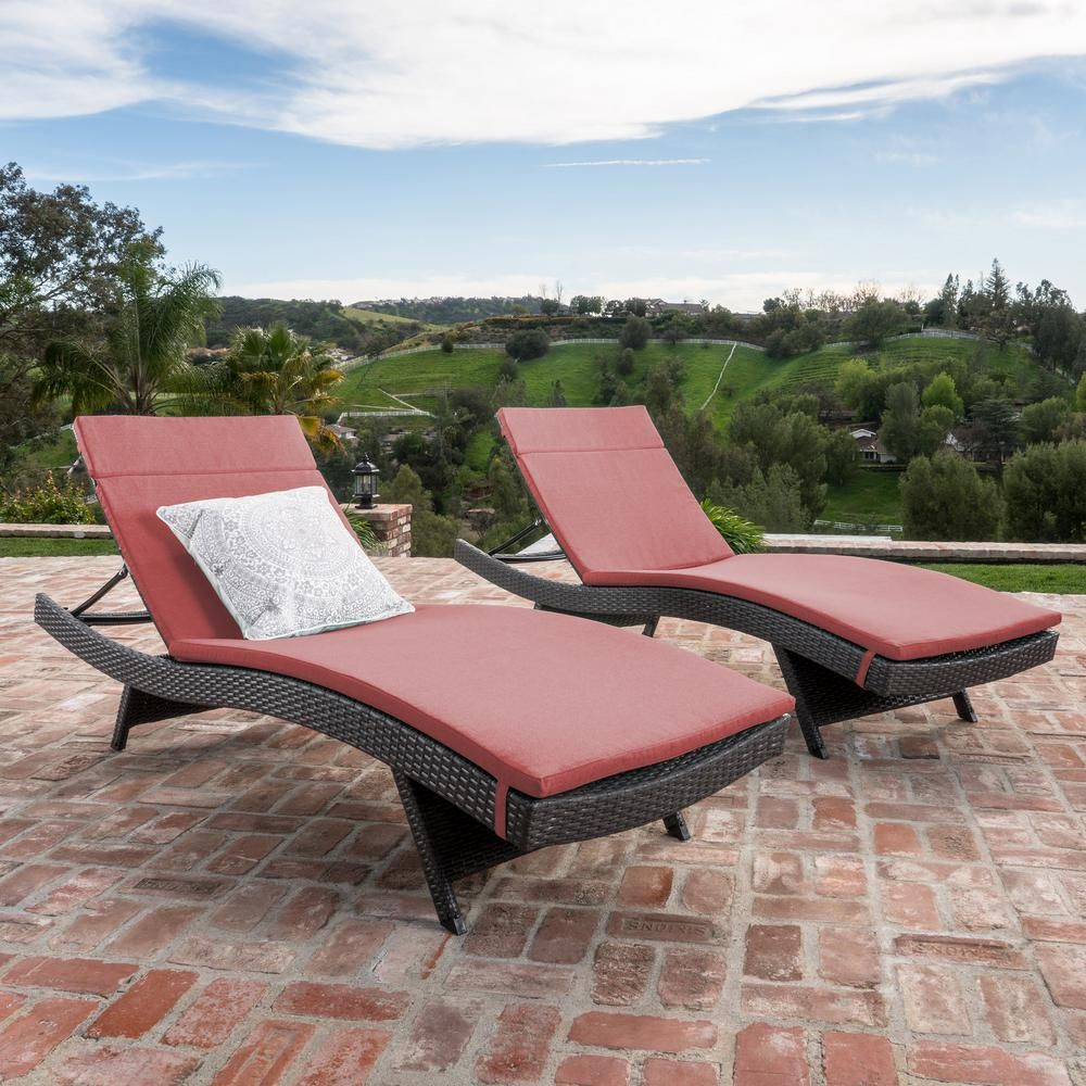 Pleasing Noble House Miller Grey Armless 2 Piece Wicker Outdoor Caraccident5 Cool Chair Designs And Ideas Caraccident5Info