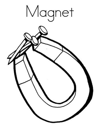 Magnet Coloring Page Coloring Page Book For Kids With Images