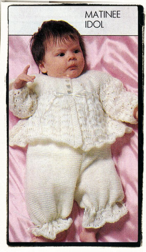 52eaa1f19 Instant Download PDF Knitting Pattern to make a Baby Girls Lacy ...