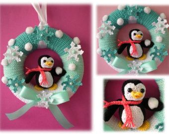 Easy Christmas Amigurumi : Crochet pattern wreath pattern crochet maritime by petrapatterns