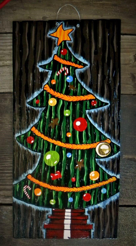 Nightmare Before Christmas Inspired Christmas Tree Door