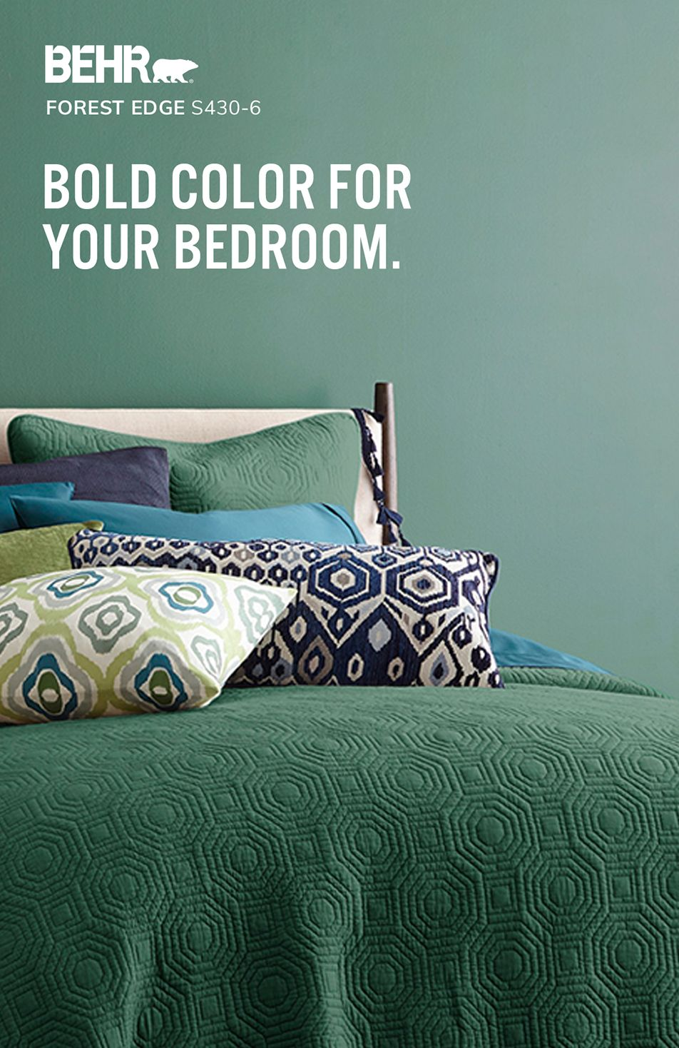 Bedroom Inspiration By Behr Paint Color Colors House Palettes