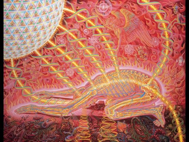 Prostration Alex Grey Alex Gray Art Alex Grey Paintings