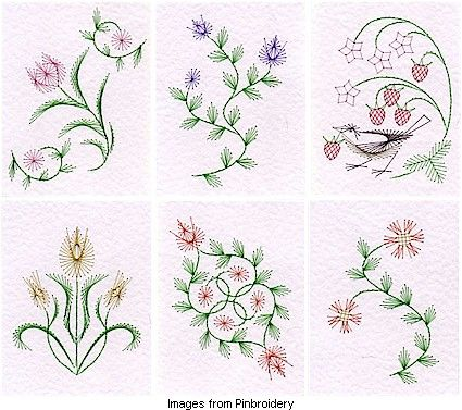 Quilling inspiration: free embroidery pattern