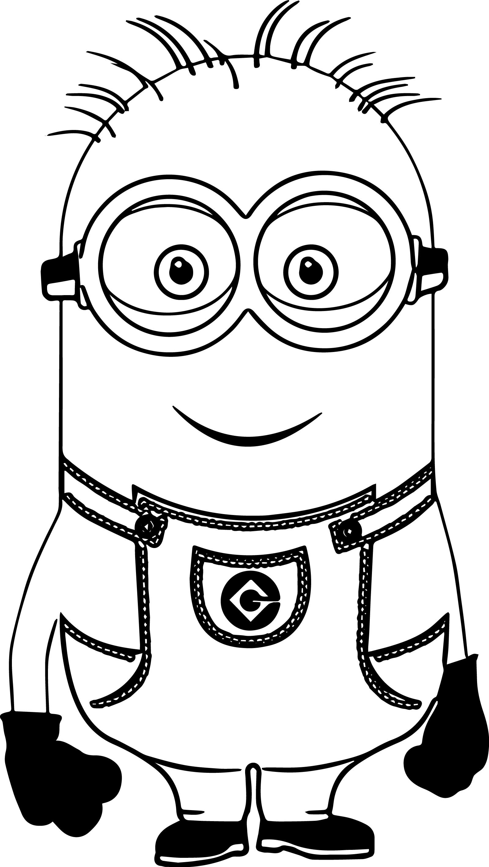 Nice Minion Smile Coloring Page Coloring Pages Bear Coloring Pages Minions