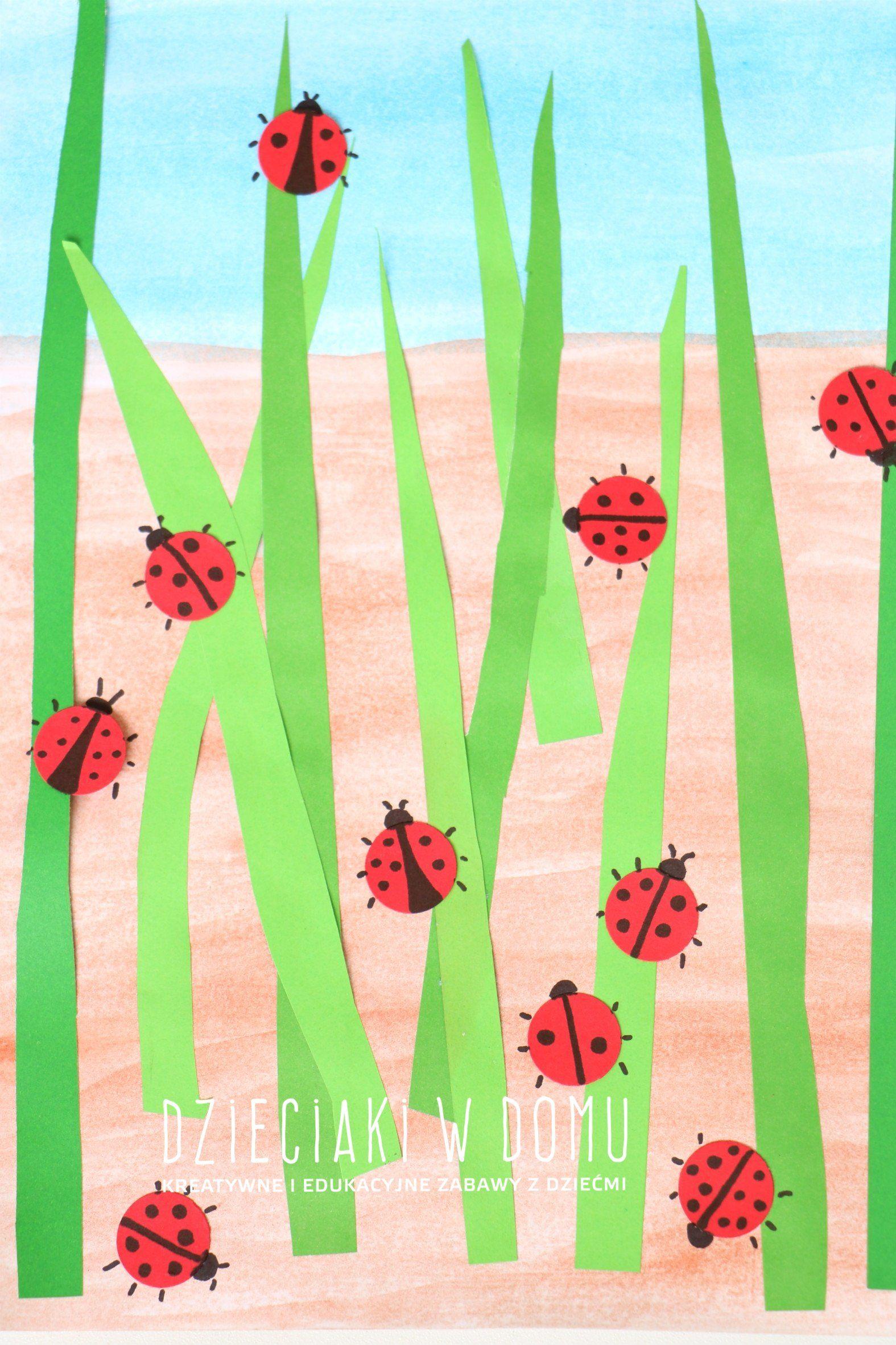 Biedronki Wiosenna Praca Plastyczna Dzieciaki W Domu Spring Crafts For Kids Spring Crafts Spring Art
