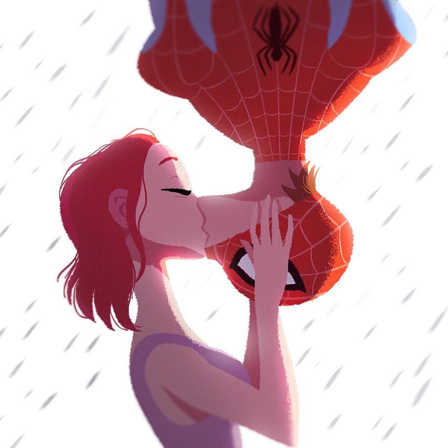 Spiderman - Spider's Kiss - fanart | Superheroes ...