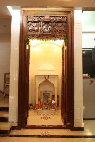 Puja room design pooja space pinterest puja room room and interiors - Pooja room door designs in kerala ...