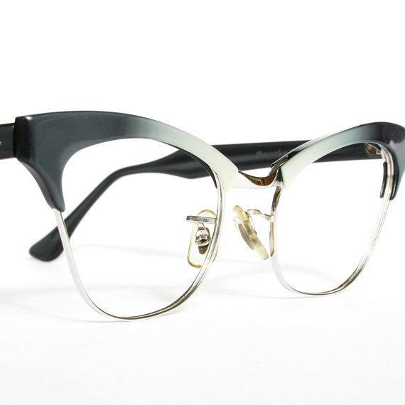 Items similar to Grey Fades Cat Eye Glasses by Bausch & Lomb on Etsy