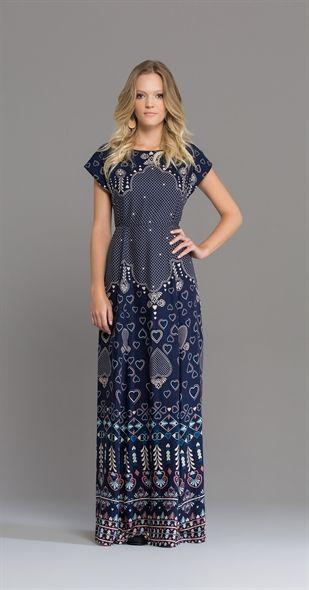 Vestido Longo Enamorada - Tecido  viscose Composição  59% Viscose ... 55851afa0ee