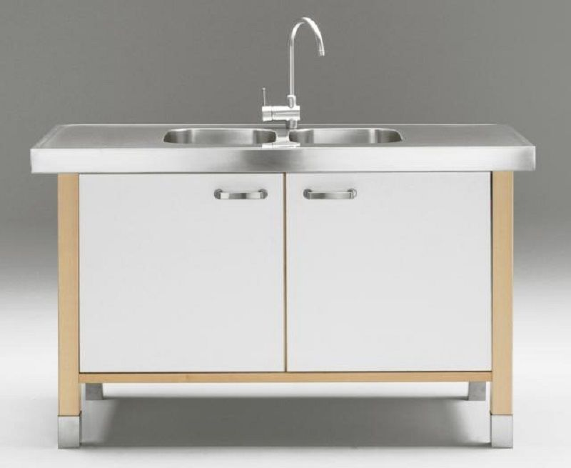 Pinpolly Smith On Kitchen Ideas  Pinterest  Stainless Steel Enchanting Kitchen Cabinet Sink Base Review