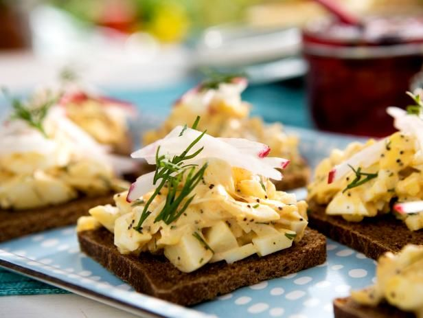 Check out open faced egg salad tea sandwiches with crab and poppy food forumfinder Choice Image