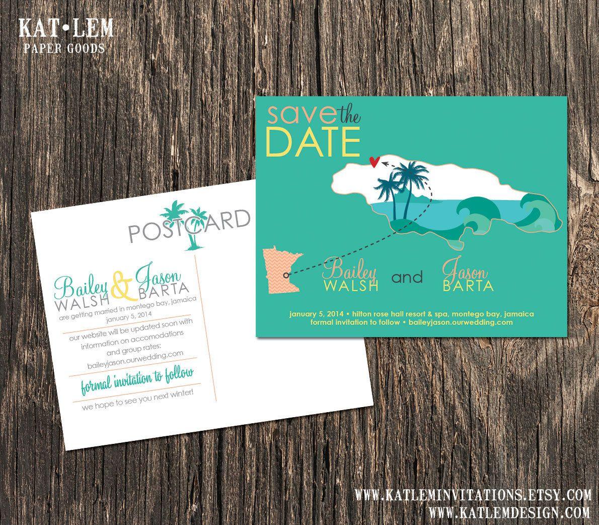 destination wedding save the dates and invitations%0A Jamaica  u     Save the Date  u     Kingston  Montego Bay Destination Wedding  u     Wedding  Save the Dates