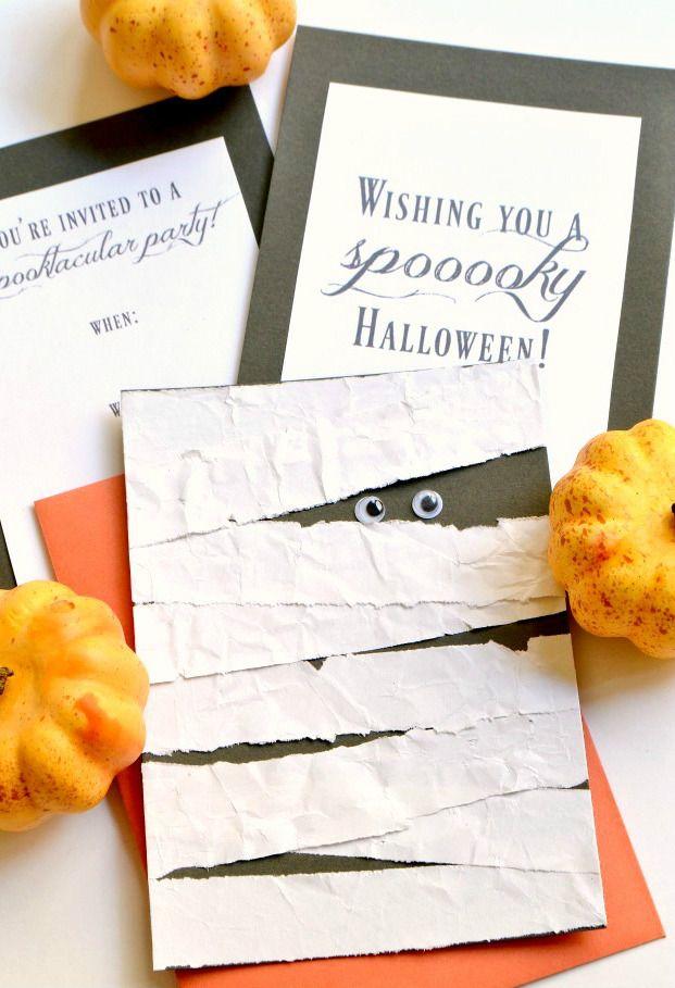 Halloween Einladung basteln – 5 gruselige Anleitungen