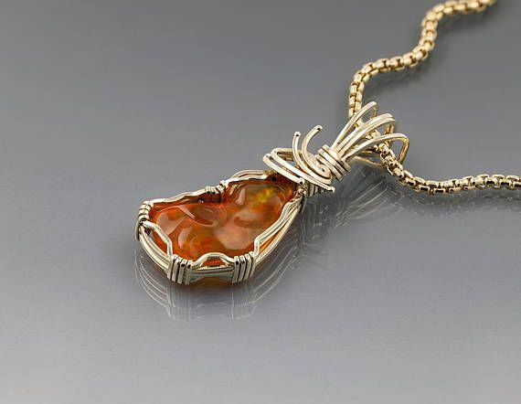 Mexican fire opal pendant red orange october birthstone fire mexican fire opal pendant red orange october birthstone aloadofball Choice Image