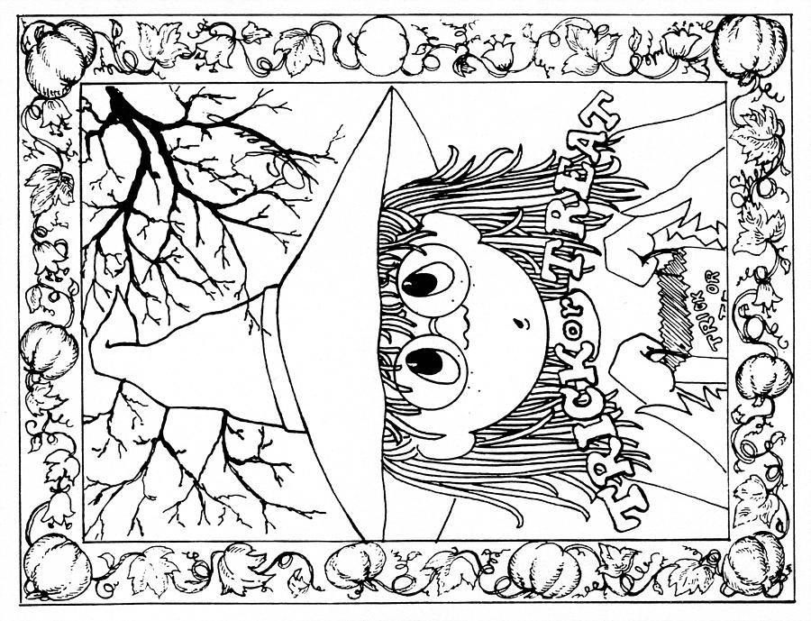 Art Mediums Halloween Me Card Halloween Drawing Color Me