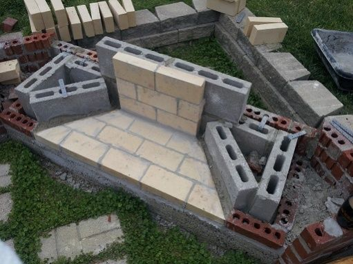 Awesome Concrete Block Outdoor Fireplace Simple With 6 Weeks To An Outdoor .
