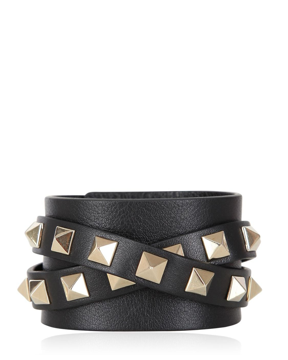 Valentino Rockstud Leather Cuff Bracelet B27hxs