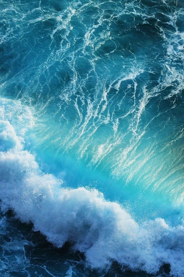 Blue Ocean Waves Iphone 6 Wallpaper Backgrounds Waves Wallpaper