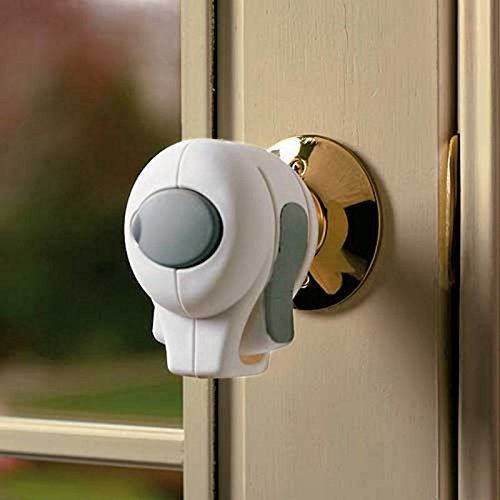5 pack door knob lock children safety grip cover kids guard toddler child proof home yard for Child proof locks for exterior doors