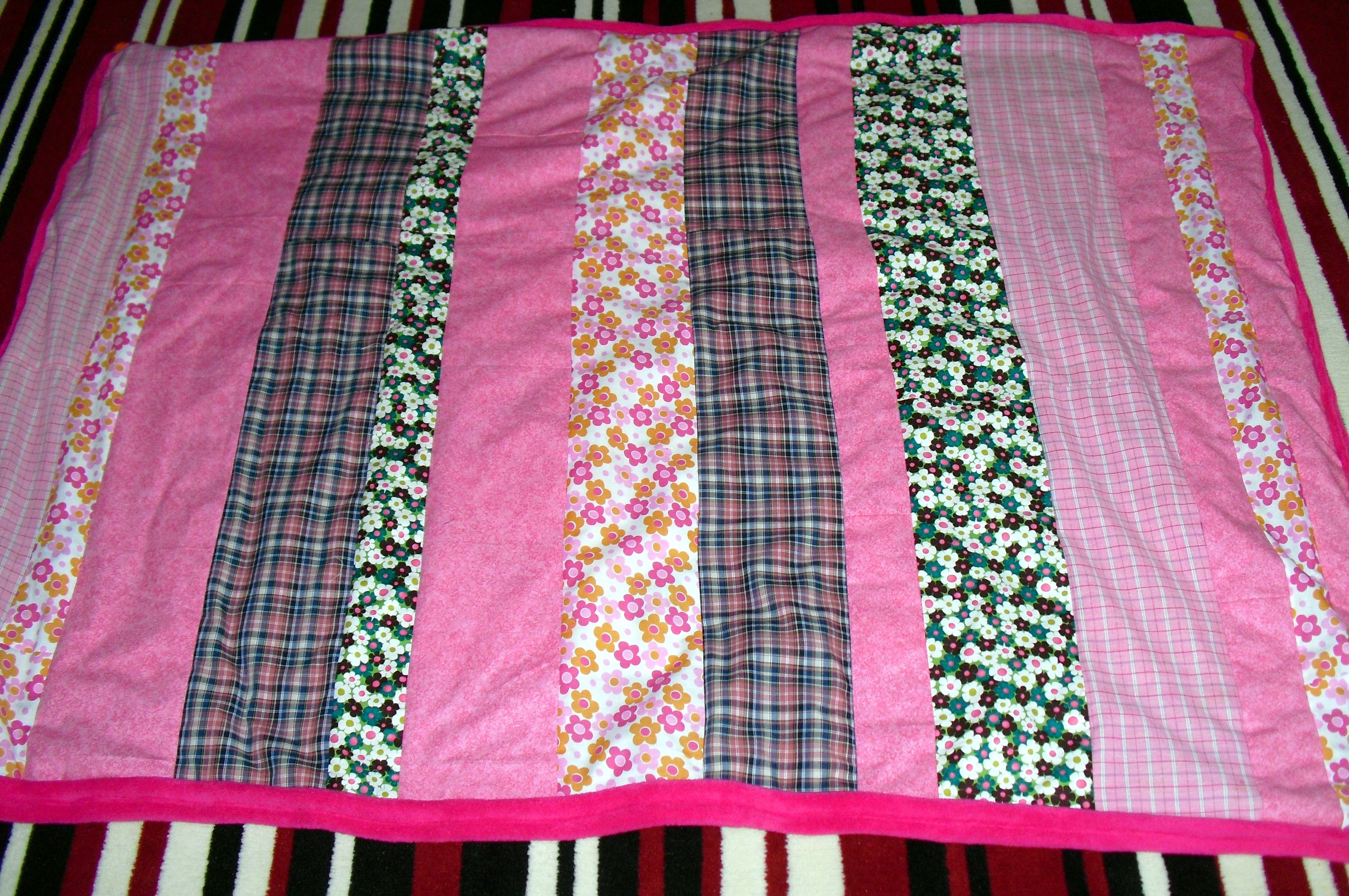 Upcycled Cosy Quilted Cot Blanket